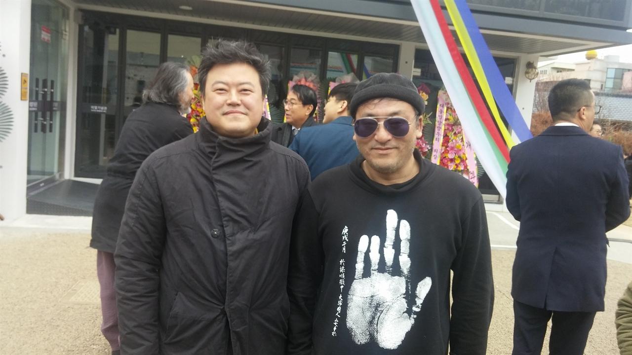 신범식 <독립유공자유가족복지사업조합> 운영위원장(좌)과 김태현 조선의열단행동단장(우)