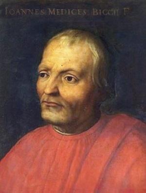 브론치노가 그린 조반니 디 비치 데 메디치의 초상.