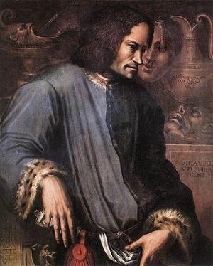 메디치 가문의 후원을 받은 화가 조르조 바사리가 그린 로렌초 데 메디치의 초상화.
