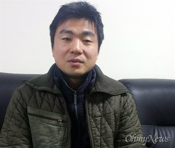 해고 노동자 김화민 학교 상담사(42)
