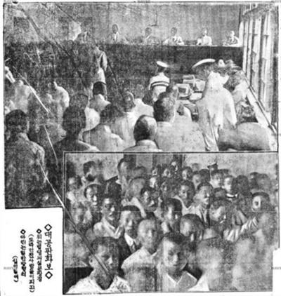 민족대표 공판 장면(동아일보, 1920.7.13)