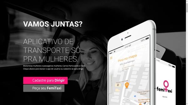 브라질의 여성 전용 택시인 '페미 택시'