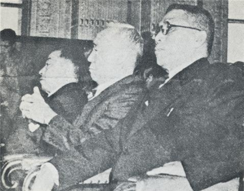 해방정국 세 지도자. 왼쪽부터 김규식, 이승만, 김구.