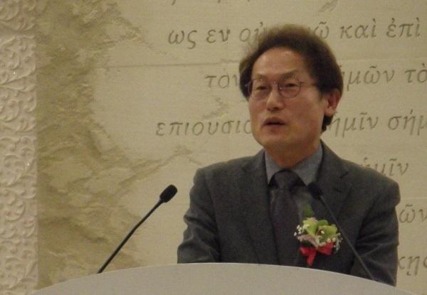 조희연 교육감 조희연 서울시교육감이 26일 서울노총 정기대의원대회 참석해 축사를 하고 있다.