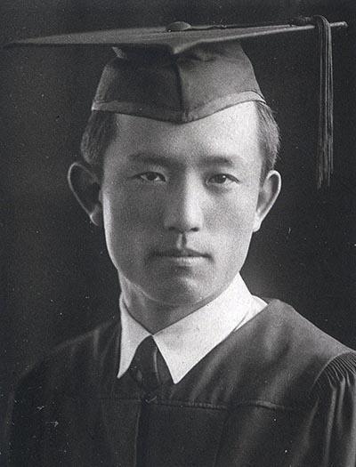 1941년 연희전문학교 졸업 당시의 윤동주.