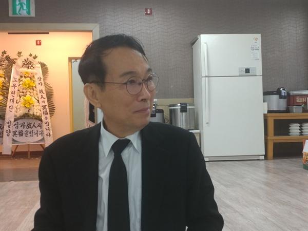 약산 김원봉의 외조카 김태영 박사. 지난26일 김학봉 여사의 빈소에서 만났다.