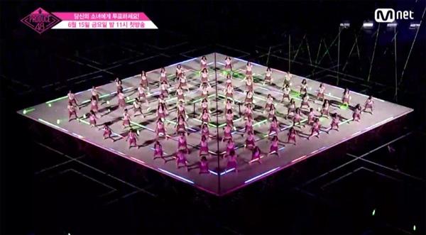 지난해 방영된 <프로듀스48>에 참가한 연습생들