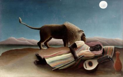 잠자는 집시(앙리 루소, 1897, 뉴욕 현대미술관)