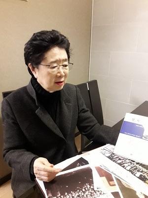 처음부터 잘되면 그것이 이상한 일이라면서 북한과 미국이 대화하려는 노력 자체가 중요하다고 희망을 놓지 않는 김수옥 회장.