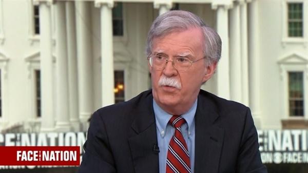 존 볼턴 미국 백악관 국가안보회의(NSC) 보좌관의 미국 CBS방송 인터뷰 갈무리.