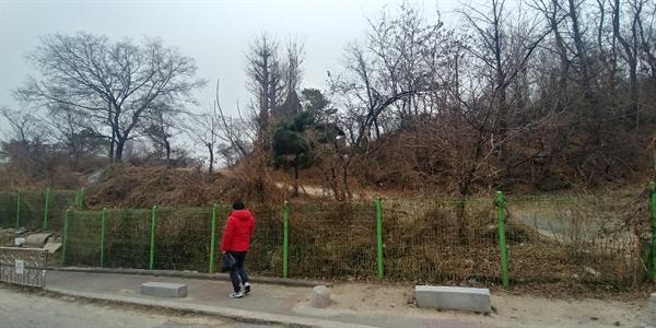 한양대 기숙사 건립이 예정된 서울 성동구 사근동 일대 부지.