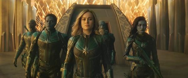 영화 < 캡틴 마블 >의 한 장면.