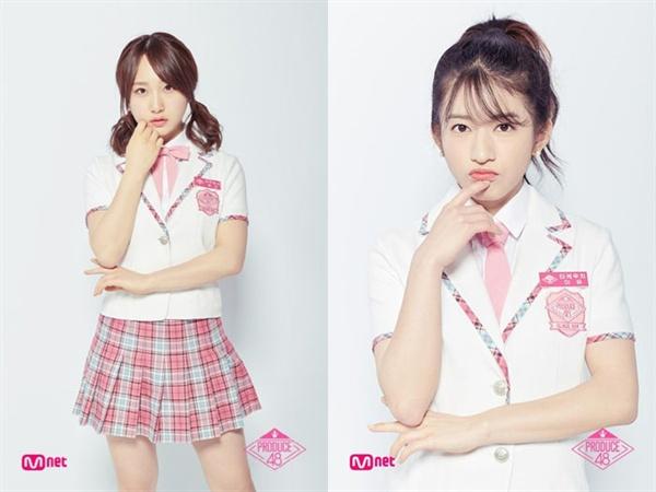 Mnet <프로듀스 48>에 출연했던 AKB48 멤버 타카하시 쥬리(왼쪽), 타케우치 미유가 각각 울림, 미스틱과 계약을 맺고 한국 진출에 나선다.