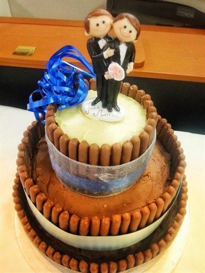 윌리엄스씨 부부의 결혼식 케이크.