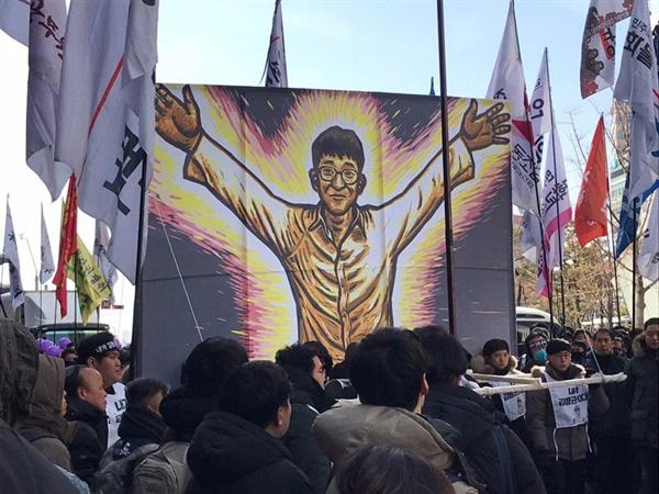 2019년 2월 9일 열린 고 김용균 노동자의 노제