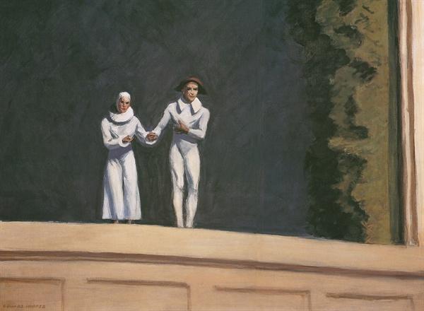 두 코미디언들(에드워드 호퍼,1965,개인소장)