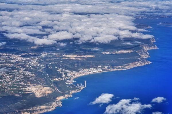 리우데자네이루에서 7700킬로미터, 비행기에서 바라본 대서양과 포르투갈.