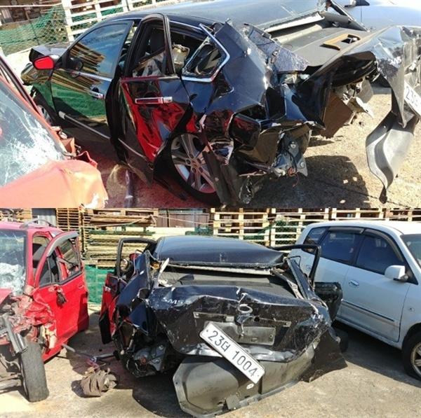 사고 후 피해자 차량