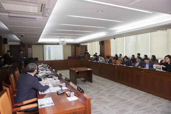 3월 21일 은평구의회에서는 광역자원순환센터 용역 결과 보고회가 열렸다.
