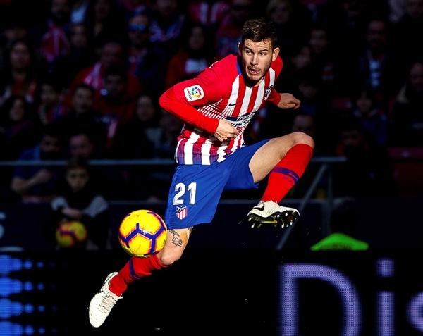 아틀레티코 마드리드의 수비수 루카스 에르난데스(23세, 프랑스)가 바이에른 뮌헨으로 이적한다. 사진은 2019년 1월 26일 헤타페와 아틀레티코 마드리드의 라 리가 경기 당시 루카스 에르난데스의 모습.
