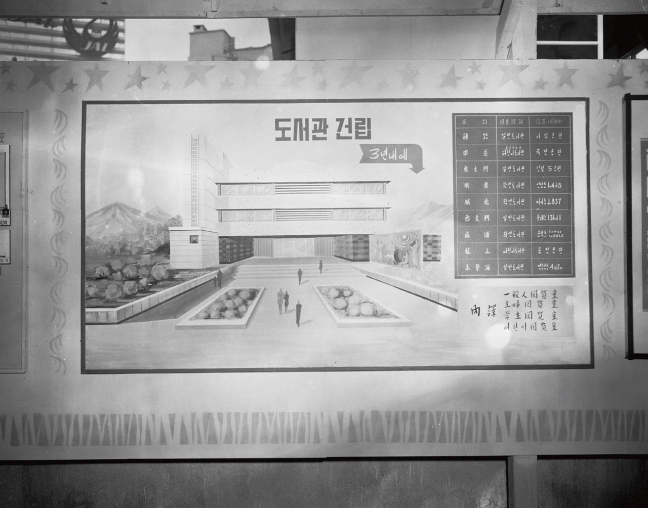 서울시가 서울도시계획전시장에서 공개한 '도서관' 설립 계획 '불도저' 김현옥 시장은 1966년 서울도시계획전시장에서 강북 지역 9개 도서관 건립 계획을 공개한다. 종로구, 동대문구, 서대문구, 영등포구에는 일반 도서관을, 성동구, 성북구, 마포구에는 학생 도서관을, 중구, 용산에는 어린이 도서관을 각 1개관씩 짓는다는 계획이다.