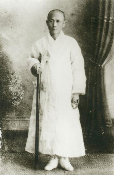 1916년 별세하기 직전의 나철 선생.