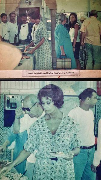 카사블랑카에서 머문 유스호스텔에는 전에 그곳에서 머물렀던 이탈리아 배우 소피아 로렌이 식사하는 사진이 전시되어 있었다.