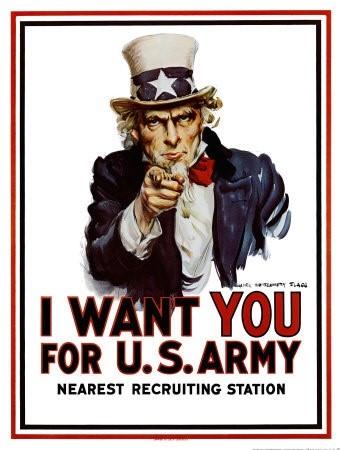 1918년 미군 모병 포스터