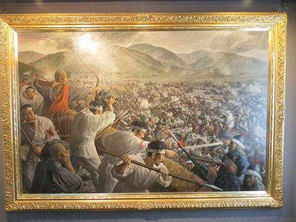 고려와 몽골의 전쟁. 서울시 용산구의 전쟁기념관에서 촬영.