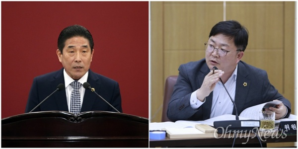 공직선거법 위반 혐의로 항소심에서 의원직 상실형인 벌금 100만 원을 선고받은 김병태, 서호영 대구시의원.