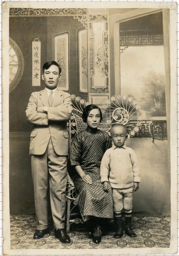 중국 난징에서(1935) 김자동 회장 가족