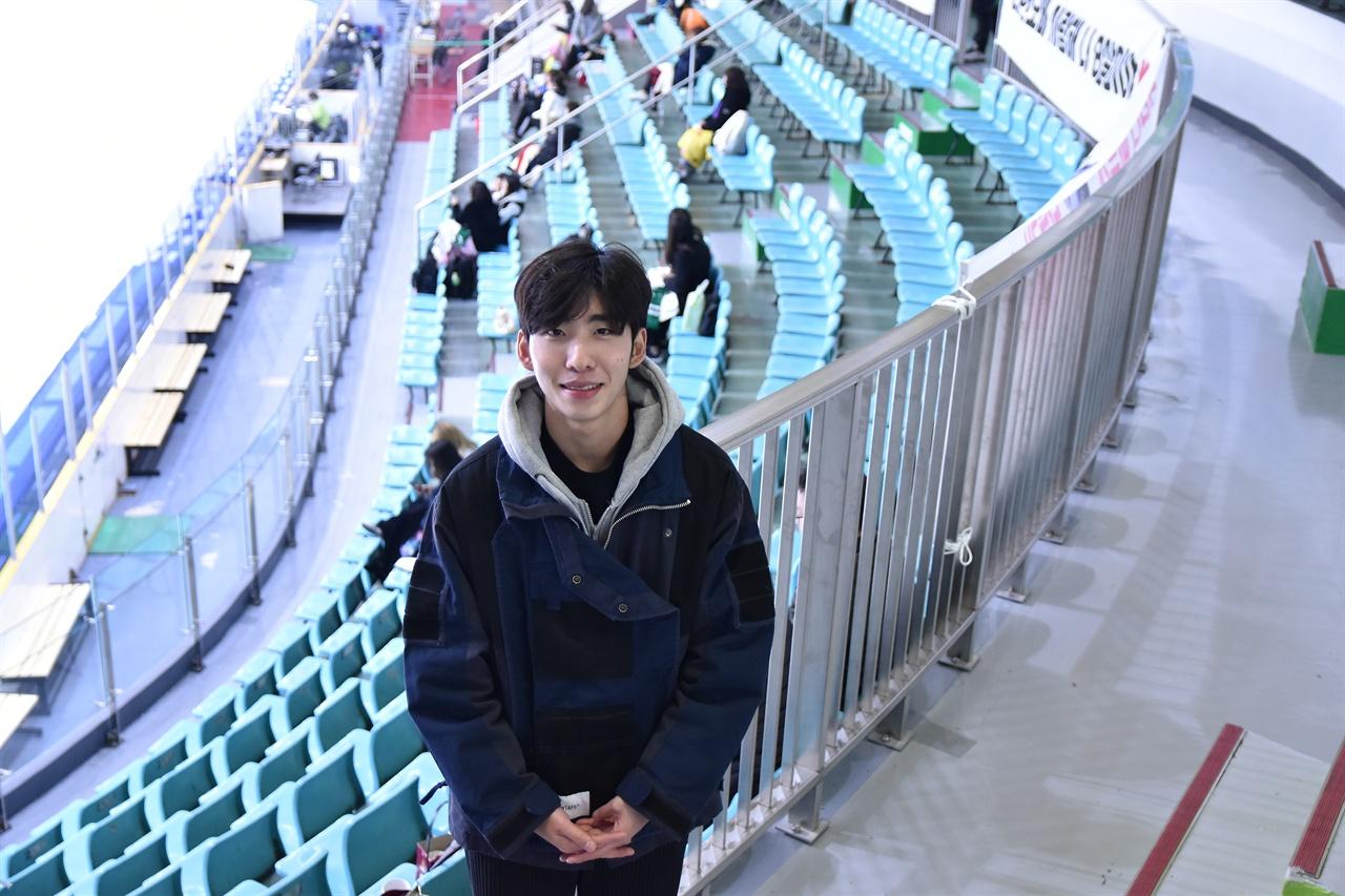 3일 서울 목동 아이스링크에서 만난 쇼트트랙 국가대표 임효준
