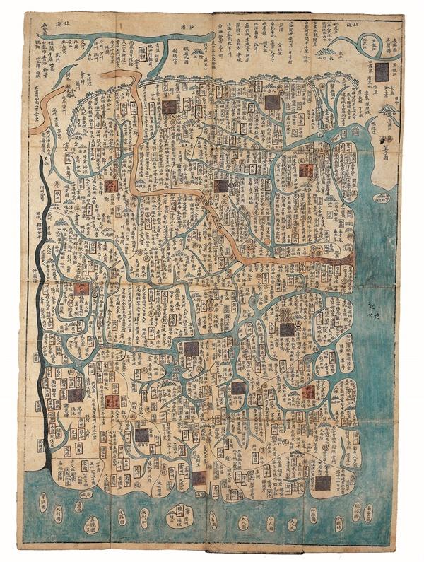 천하고금대총편람도(天下古今大摠便覽圖) 1666년 김수홍, 중화주의 지도