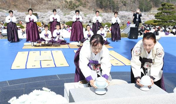 4월 8일 거창군 신원면 거창사건 추모공원에서 열린 추모식.