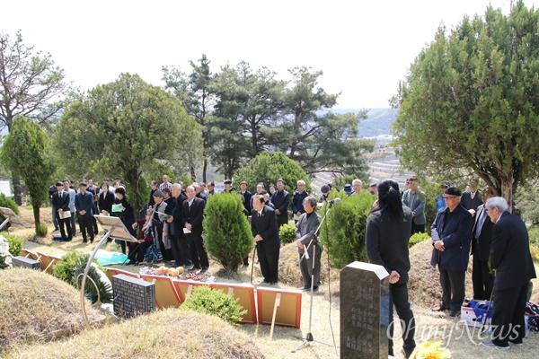 4.9인혁열사 추모제가 9일 대구시 북구 현대공원묘역에서 유족과 시민단체 관계자 등 50여 명이 참석한 가운데 열렸다.