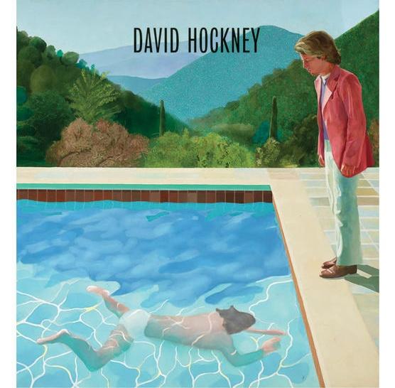 데이비드 호크니 I '예술가의 초상_수영장의 두 사람(Portrait of an Artist Pool with Two Figures)' 1972. 2017년 영국 런던 '테이트 브리튼' 전시도록의 표지화 ⓒ TATE BRITAIN