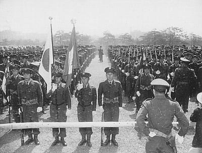 육상자위대의 전신인 경찰예비대. 1953년 사진.
