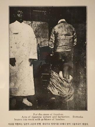 미국 기독교 교회 연합회가 편찬한 <한국의 상황>에 따르면 1919년 3월 1일부터 10월 31일까지 만세 시위로 체포당한 사람은 2만8934명이었으며 이중 헌병에게 태형 처분을 당한 이들은 9078명에 이르렀다고 한다. 재판에 회부된 8993명 중 '공식적으로' 태형 처분을 받은 이 또한 1514명이었다고 한다. 모두 1만592명이 사람을 죽음에 이르게까지 만드는 폭력을 당한 것이다.