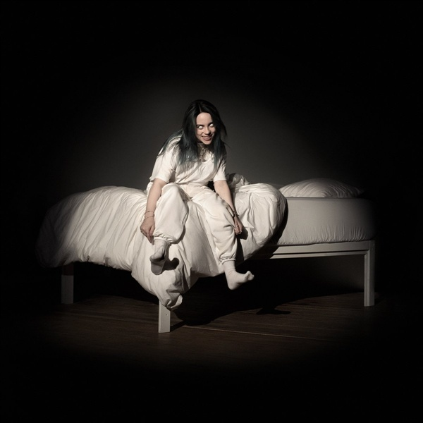 빌리 아일리시가 3월 29일 발표한 정규 앨범 < When We All Fall Asleep, Where Do We Go? >의 앨범 커버