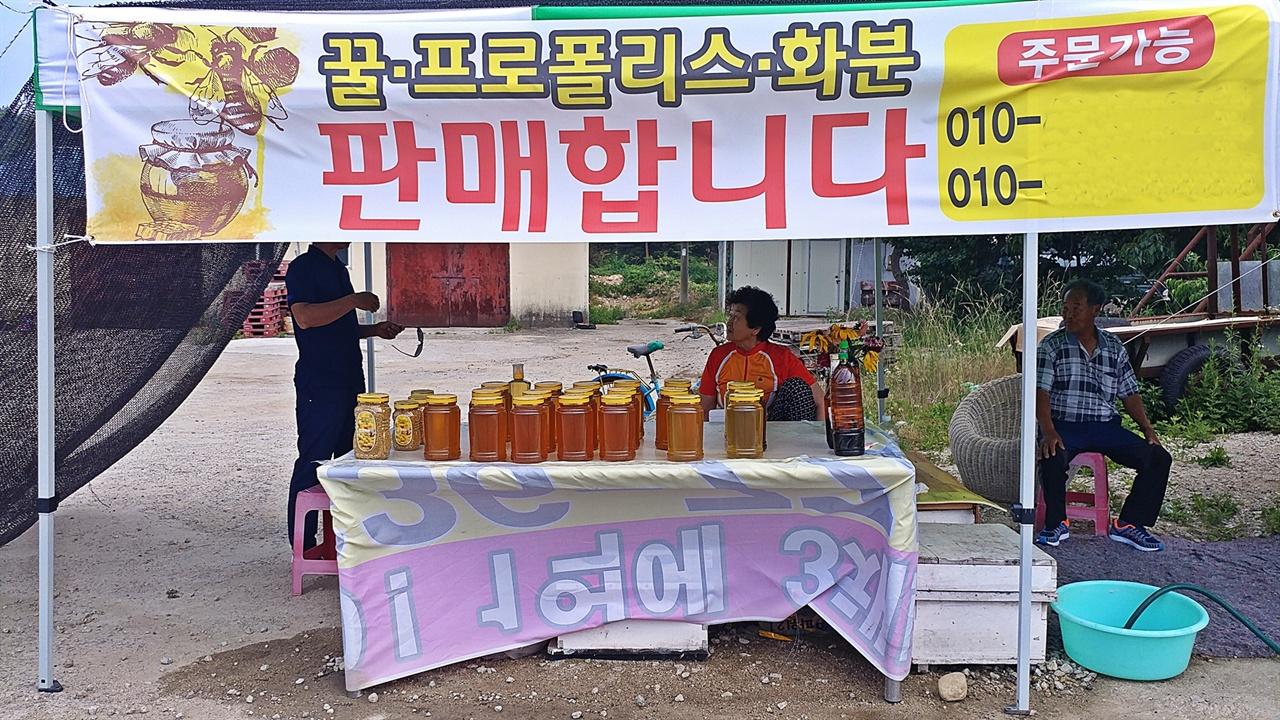 꿀 판매 뙤약볕 아래서나 폭우가 쏟아지는 날이나 친구 어머니는 이렇게 지나가는 차를 상대로 꿀을 팔았다. 생활비도 자식들에게 의지할 일이 없고, 소자들 용돈도 넉넉히 주며 새집을 짓느라 낸 조합 돈도 갚아 나갈 수 있던 귀한 일이었다.
