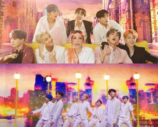 방탄소년단의 신곡 '작은 것들을 위한 시(Boy with Luv)'는 최근 발표한 타이틀곡들에 비해 더욱 대중적인 팝이다.