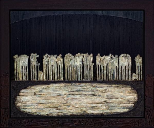 감성빈 '심연, 군상 2019'  현대사의 아픔과 기억을 형상화한 작품이다.