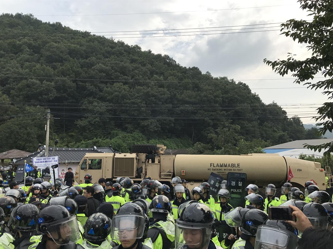 2017년 9월 7일 문재인 정부의 사드 추가 배치 당시 성주 소성리 상황
