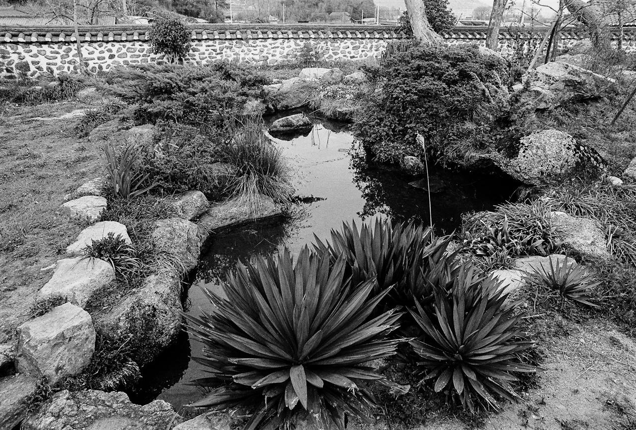 정씨 고택의 한반도 모습을 닮은 연못