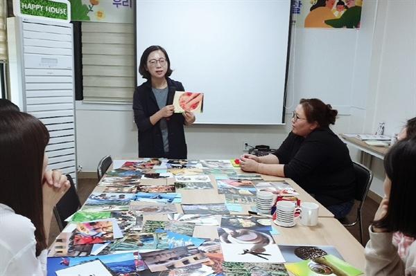 푸른잎사귀는 2003년 지역 안에서 봉사활동으로 만난 지역사람들이 하나 둘 모여 현재 400여 명이 활동하고 있다.