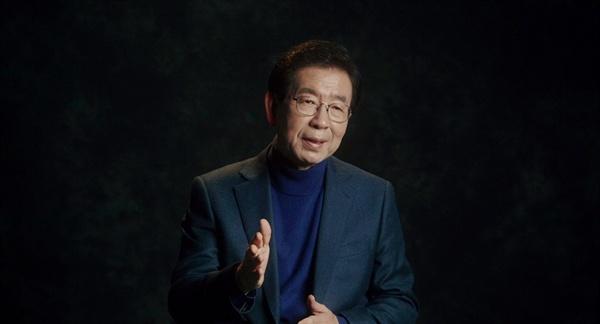<노무현과 바보들>의 한 장면. 노무현을 이야기하고 있는 박원순 서울시장