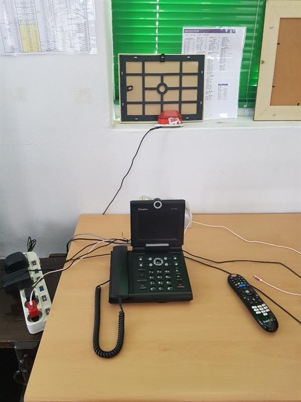 화상전화기 농인들이 사용하는 화상전화기.