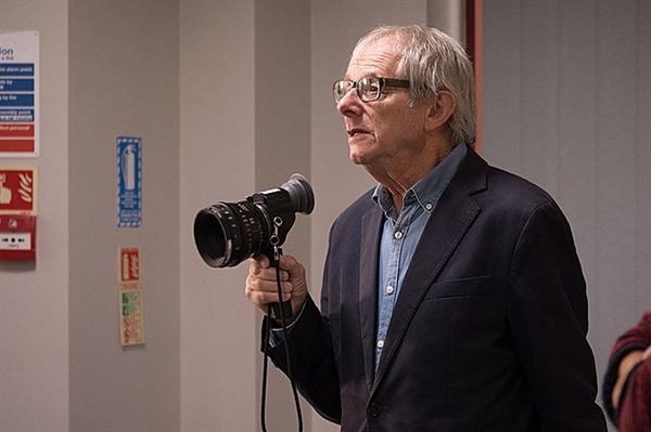 <나, 다니엘 블레이크> 촬영 당시 켄 로치 감독.