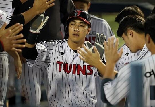 팀 내 타율 1위를 기록 중인 LG 이천웅
