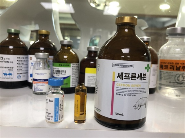 A동물병원에서는 사용기한이 2015년 11월 28일까지인 의약품이 발견되었다. (가운데)